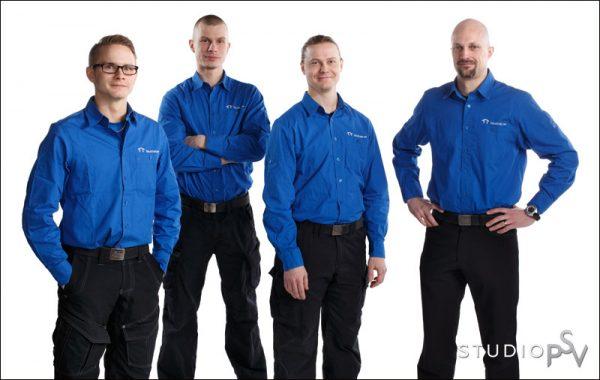 Kun Talo Tukeen palkattiin ensimmäiset työntekijät, päätettiin alkaa panostaa myös yrityksen valokuviin. Kuva on vuodelta 2014.
